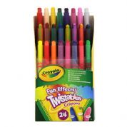 Crayola Twistables Fun Effects Mini Crayons 24 Pack